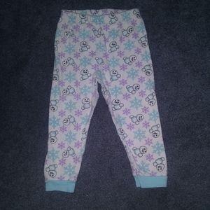 💥 Disney Frozen Snowflake Pajama Bottoms